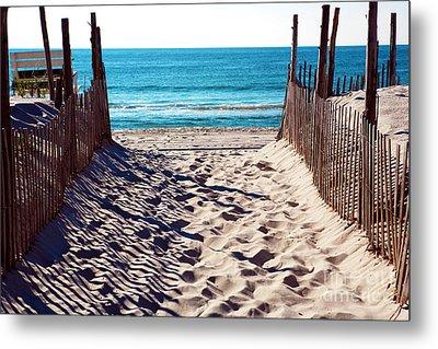 Beach Entry Metal Print