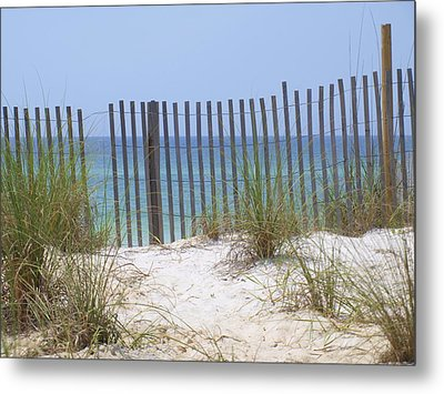 Beach Fence Metal Print by James Granberry