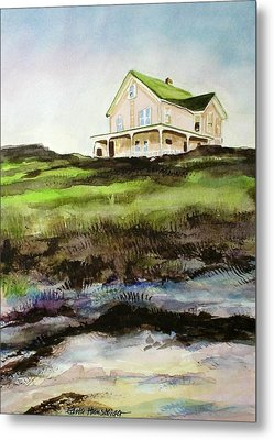 Beach House Block Island Metal Print