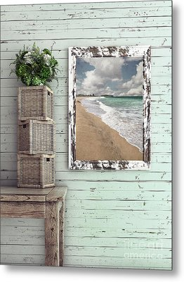 Metal Print featuring the photograph Beach House By Kaye Menner by Kaye Menner