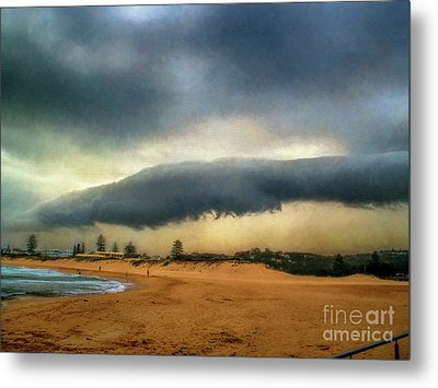 Metal Print featuring the photograph Beach Storm At Sunset By Kaye Menner by Kaye Menner