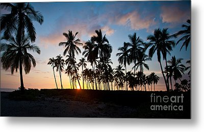 Beach Sunset Metal Print by Mike Reid