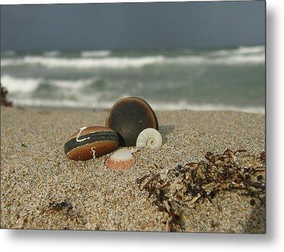 Beach Treasures 1 Metal Print by Kimberly Mohlenhoff