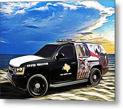 Beach Trooper 4x4 Cruiser On A Texas Morning Metal Print by Chas Sinklier