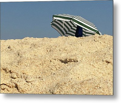 Beach Umbrella Metal Print by Contemporary Art