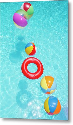 Beachballs Metal Print by Alex Bramwell