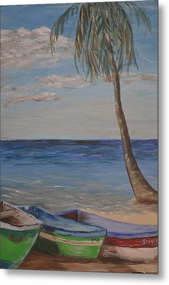 Metal Print featuring the painting Beached by Debbie Baker