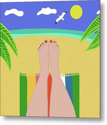 Beachy Keen Metal Print by Nicole Wilson