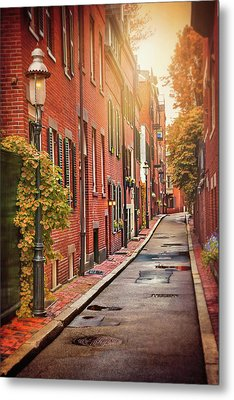 Beacon Hill Area Of Boston  Metal Print by Carol Japp