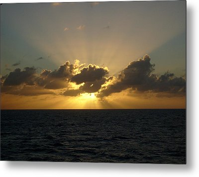 Beams Over The Pacific Metal Print by Jennifer Compton