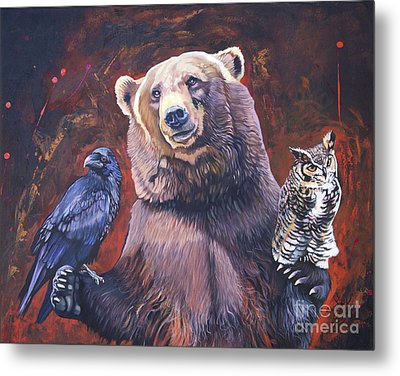 Bear The Arbitrator Metal Print by J W Baker