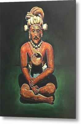 Bearded Mayan Man Relic Campeche, Jaina Island, Mexico - 600-900 Ad Metal Print