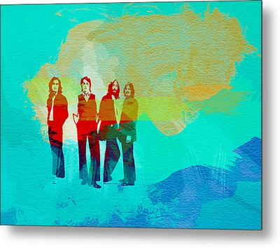 Beatles Metal Print by Naxart Studio