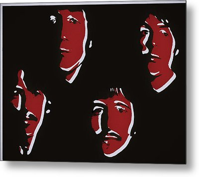 Beatles Pop Art  Metal Print