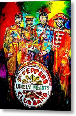 Beatles Sgt. Pepper Metal Print