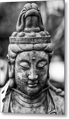 Beautiful Buddha Statue Portrait With Shallow Depth Of Field For Metal Print by Matthew Gibson