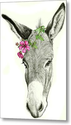 Beautiful Donkey Metal Print