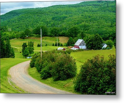 Beautiful Farm In Windsor Forks Metal Print by Ken Morris