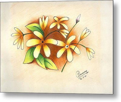 Beautiful Flowers Metal Print by Tanmay Singh
