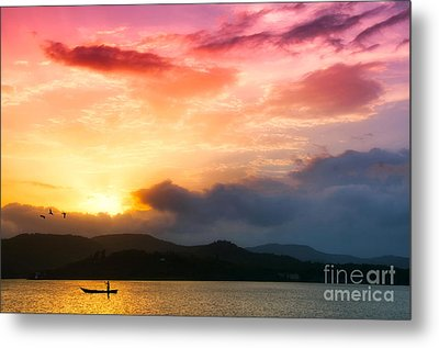 Beautiful Sunset Metal Print by Charuhas Images