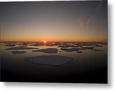 Beautiful Sunset Over An Arctic Ice Metal Print by Norbert Rosing
