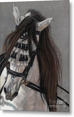Beauty In Hand Metal Print by Sheri Gordon