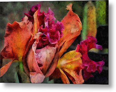 Beauty Of An Orchid Metal Print by Trish Tritz
