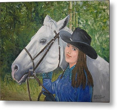Becky And Jazz Metal Print