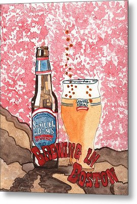 Beer From A Bottle No.6 Metal Print by Connie Valasco