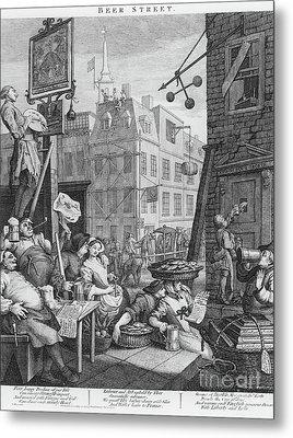 Beer Street, 1751 Metal Print by William Hogarth