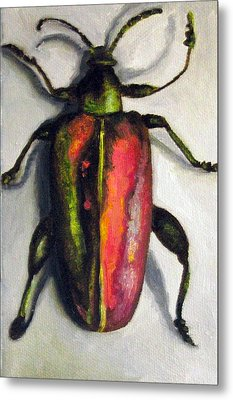 Beetle Metal Print by Leah Saulnier The Painting Maniac