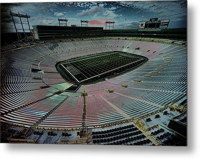Before The Game At Lambeau Metal Print by Lawrence Christopher