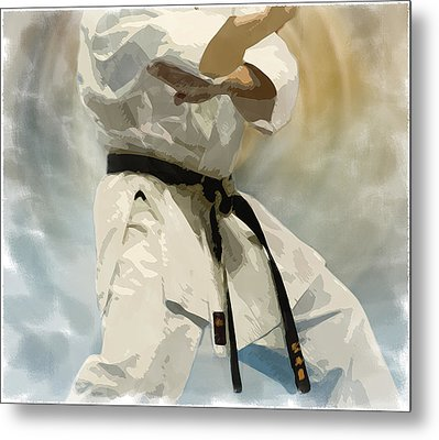 Being A Black Belt Metal Print by Deborah Lee