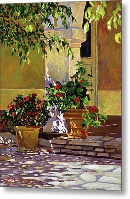 Bel-air Patio Steps Metal Print by David Lloyd Glover
