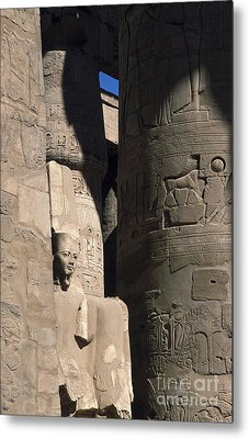 Metal Print featuring the photograph Belief In The Hereafter - Luxor Karnak Temple by Urft Valley Art