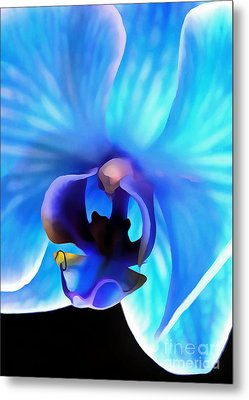 Believe In Blue Metal Print by Krissy Katsimbras