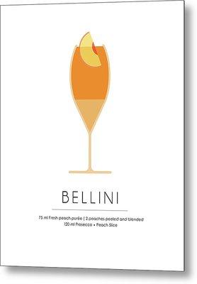 Bellini Classic Cocktail - Minimalist Print Metal Print