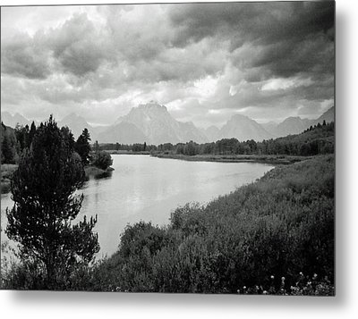 Below The Tetons Metal Print