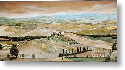 Belvedere - Tuscany Metal Print by Trevor Neal