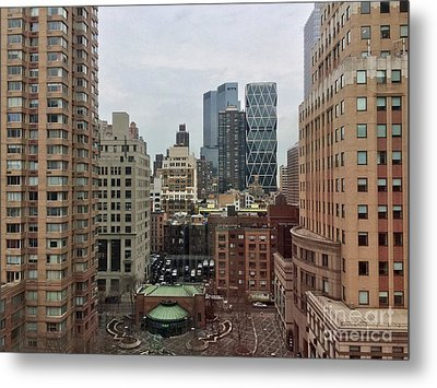 Belvedere Hotel New York City  Room With A View Metal Print