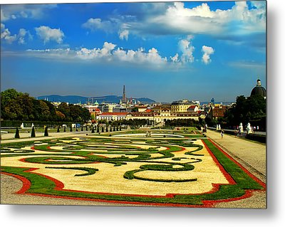 Metal Print featuring the photograph Belvedere Palace Gardens by Mariola Bitner