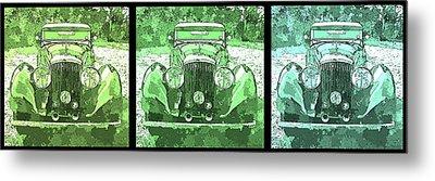 Bentley Green Pop Art Triple Metal Print