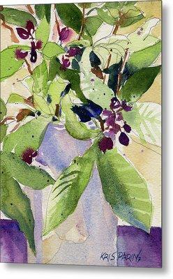 Berry Bouquet Metal Print by Kris Parins