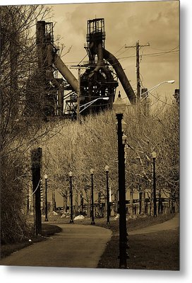 Bethlehem Steel Mill Metal Print by Luis Lugo