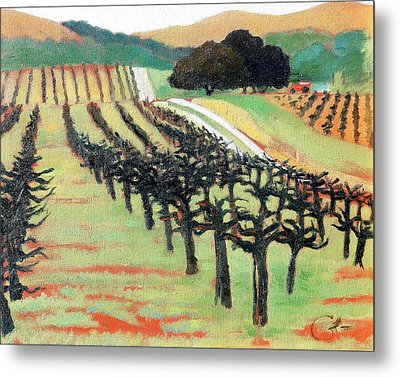 Metal Print featuring the painting Between Crops by Gary Coleman