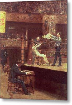 Between Rounds Metal Print by Thomas Cowperthwait Eakins