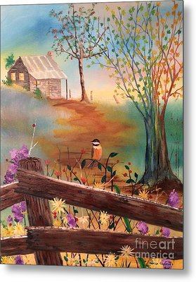 Metal Print featuring the painting Beyond The Gate by Denise Tomasura