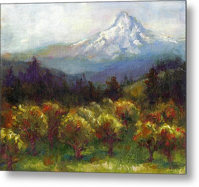 Beyond The Orchards Metal Print by Talya Johnson