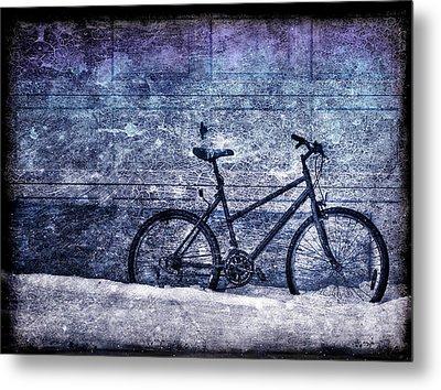 Bicycle Metal Print by Evelina Kremsdorf