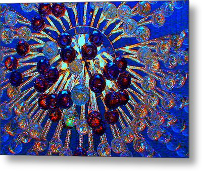 Big Apple Chandelier Metal Print by Angela Annas